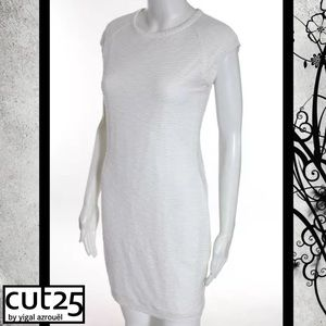 Cut25 by Yigal Azrouel Dresses & Skirts - CUT25 Classic Ivory Scoop Textured Stretch Dress