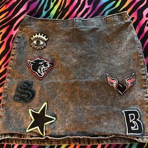 Forever 21 Dresses & Skirts - Forever 21 patch Jean skirt