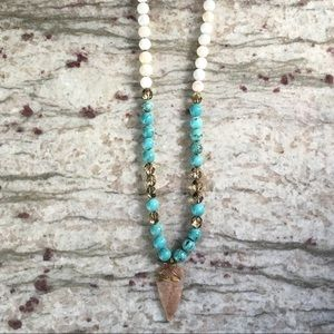 Simple Sanctuary Jewelry - Raw Jasper & Turquoise Necklace