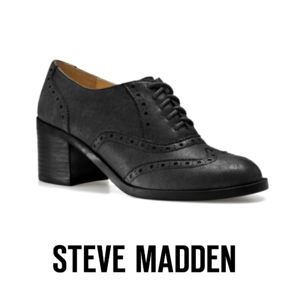 2b6d4cf3064 Steve Madden Black Leather Randi Oxford. M 58b482a6ea3f3671e20bd6a5