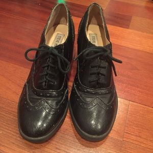 e3a7a4a1792 Steve Madden Shoes - Steve Madden Black Leather Randi Oxford