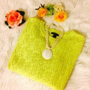 F21 Bright Neon Sweater