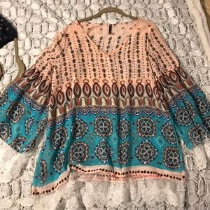 Shear printed top