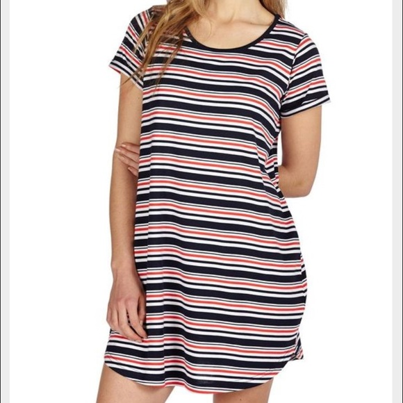 d049f17e71a2 Cotton On Dresses   Skirts - Red White   Blue Striped T-shirt Dress