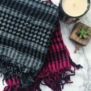 Accessories - Houndstooth Plaid Square Scarves, Set of 2