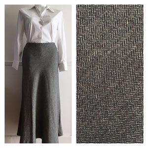 Ashley Stewart Dresses & Skirts - Black cream silver sparkle houndstooth maxi skirt