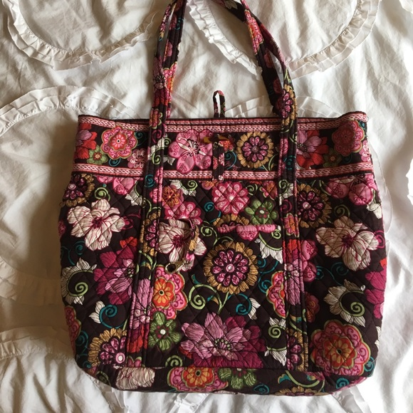 Vera Bradley tote book bag Mod Floral Pink. M 58b488bda88e7d0f29011f9e e6c3c1de71fa1