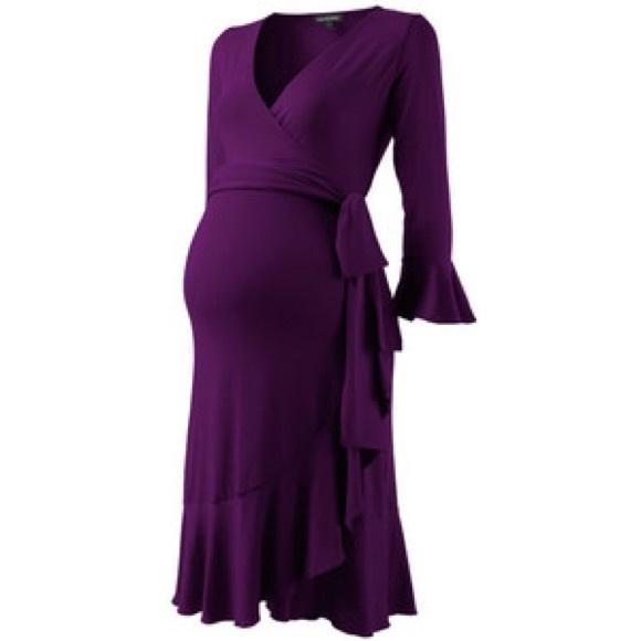 cb0e6e5deb8f6 Isabella Oliver Dresses & Skirts - Isabella Oliver Maternity Wrap Dress in  purple