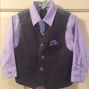 Nautica Other - Nautica 3T shirt, tie, vest, and pocket square.