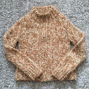 Vintage J.Crew Wool Zip Up Cardigan