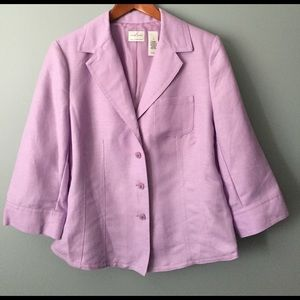 Emma James Jackets & Blazers - Lavender Mid-length blazer