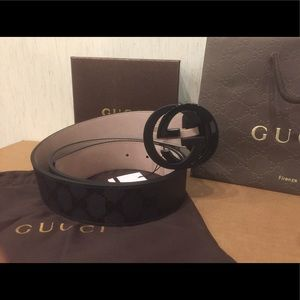 Gucci Other - NEW black Gucci Signature Impreme belt!!!!