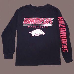NCAA Other - Boys Arkansas Razorbacks long sleeve tee