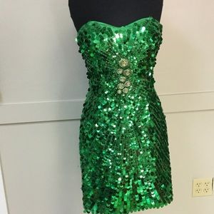 Milano Dresses & Skirts - New Milano formal size 12. Green sequin.