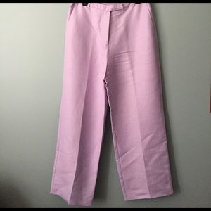 Emma James Pants - Lavender Herringbone Linen pants