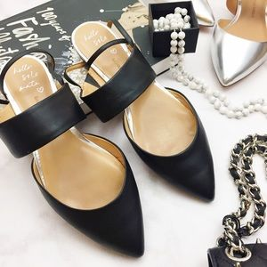 Banana Republic Shoes - Black Pointed Toe Ankle Strap Flats