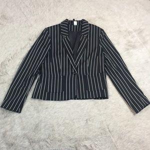 H&M single button pinstripe blazer 10