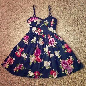 Band of Gypsies Dresses & Skirts - Band Of Gypsies black floral dress
