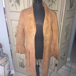Lucien Piccard Jackets & Blazers - Lucien Piccard 3/4 lengthy saddle brown leather