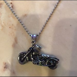 Jewelry - Motorcycle charm necklace