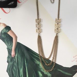 Nordstrom Jewelry - NORDSTROM Gold Chevron Necklace