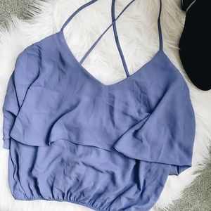 Tops - Lili lilac crop top
