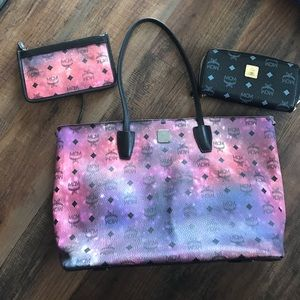 MCM Handbags - MCM Galaxy Tote and Pouch