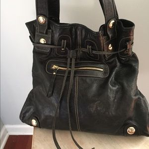 gustto Handbags - Gustto Authentic Leather Large Shoulder Bag!