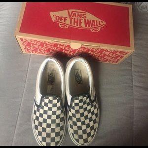 Vans Other - Vans checkerboard classic slip-on