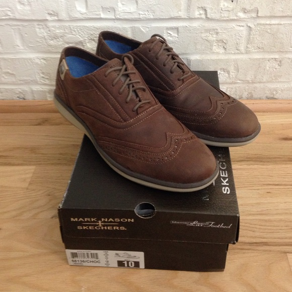 4945f96af3fc Mark Nason Skechers Whitby Chocolate Brown.
