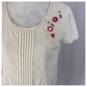 J. Jill Embroidered Cotton Top