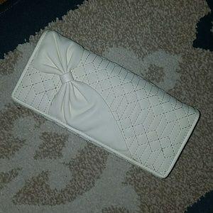 Handbags - CREAMY WHITE BOW WALLET
