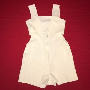 English Factory Pants - White Cut Out Romper