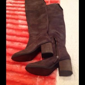 Hinge Shoes - Hinge distressed over-the-knee boots. Size 7.5