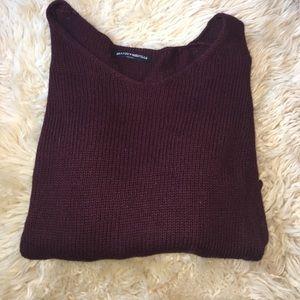 Brandy Melville maroon sweater.
