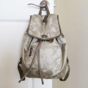 Coach Handbags - Coach Signature Nylon Backpack