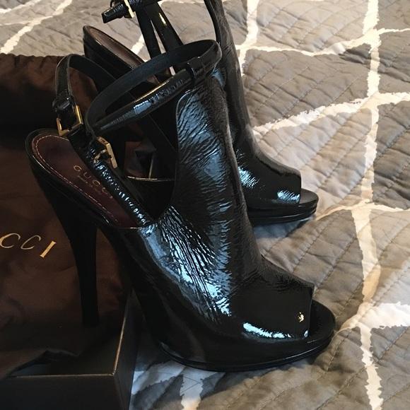 c594ac4eb8a Gucci Shoes - SALE! Gucci Jane Open Toe Bootie w Ankle Strap