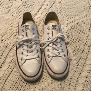Converse Shoes - Leather White Converse All Star