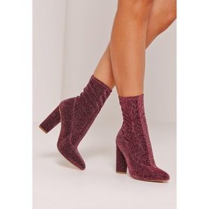 Missguided Shoes - BRAND NEW Missguided Glitter Sock Boots
