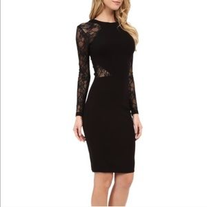 Black lace ASOS dress with cutout back
