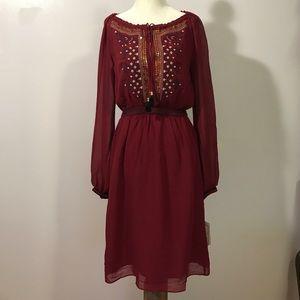 Altuzarra Dresses & Skirts - Altuzarra Embellished Burgundy Dress- Sz 2 NWT
