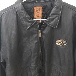 Isle of Capris Casino Men's Leather Jacket Large