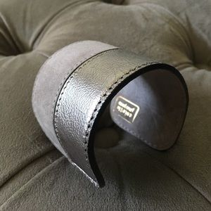 Colette Malouf Jewelry - Leather Cuff - beige
