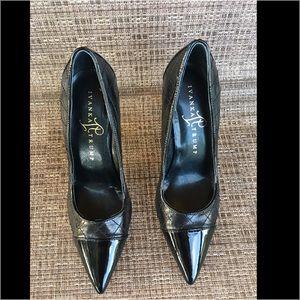Ivanka Trump Shoes - Ivanka Trump Black Quilted and Patent Heels