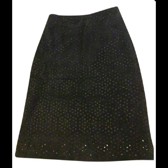 Theory Skirts - Theory Suede Pointele A Line Skirt