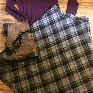 ModCloth Dresses & Skirts - Vintage Wool Plaid Skirt