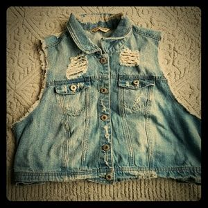 Highway Jeans Jackets & Blazers - Highway Jeans Cropped Denim Vest SZ 2XL