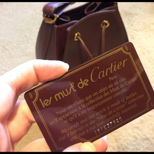 Cartier Handbags - Les Must De Cartier Bucket Bag bordeaux