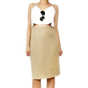 Giorgio Armani Dresses & Skirts - Giorgio Armani tweed herringbone skirt in natural