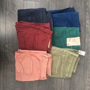 6 Pairs of High Rise Bullhead Denim